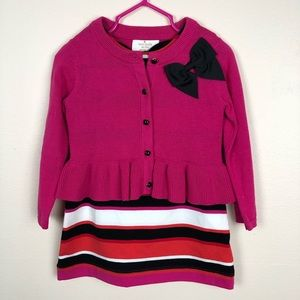 NWT Kate Spade 2T dress and NWOT cardigan 2T